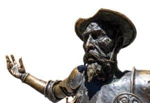 Статуя на Дон Кихот - героят на испанския писател Сервантес